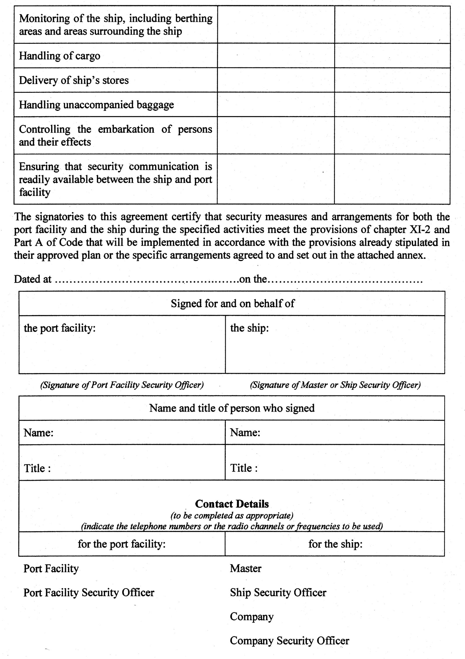 Community Provisions (Ship and Port Facility – Security) (Jersey ...